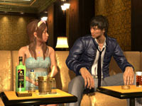 Socializing at the club in Yakuza 4