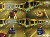 4-player split-screen in Need For Speed: Hot Pursuit for Wii