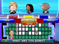 Puzzle gameplay screen from Wheel of Fortune for Wii