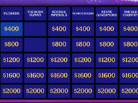 The Jeopardy! game board from Jeopardy! for Wii