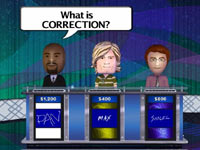 Familiar Jeopardy! answer-question gameplay flow from Jeopardy! for Wii