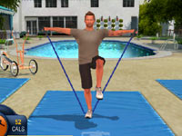 Bob Harper leading you in the use of resistance bands in The Biggest Loser Challenge