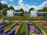 An obstacle course challenge event in The Biggest Loser: Ultimate Workout