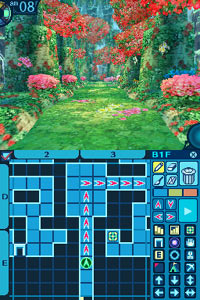 DS panes showing the customizable map in Etrian Odyssey III: The Drowned City