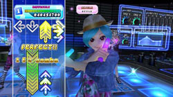 Close-up example of Wii Remote and Nunchuk use in Choreography Mode from DanceDanceRevolution for Wii