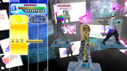 Multiplayer screen from DanceDanceRevolution for Wii