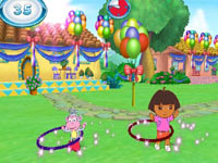 Hoola hoop exercise with Dora and Boots in Nickelodeon Fit
