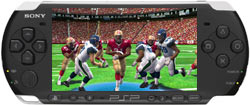 Madden NFL screenshot as seen on the PSP-3000