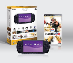 The Madden NFL 11 PSP-3000 bundle box contents