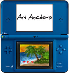 An example of Art Academy played on a DSi