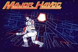 The Major Havoc game load screen from Atari's Greatest Hits Vol. 2 for DS