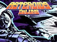 The Asteroids Deluxe game load screen from Atari's Greatest Hits Vol. 2 for DS