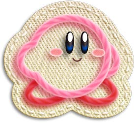 Kirby in yarn form from Kirby's Epic Yarn