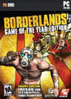 Borderlands Game of the Year box for PC