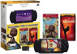 PSP-3000 bundle with LittleBigPlanet, Karate Kid UMD, 1 GB memory stick