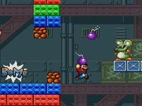 Mario unloading a bomb