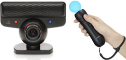 The Move Motion Controller and PlaySation Eye camera