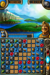 A Match Three gameplay screenshot from Jewels of Olympus
