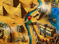 Ancient Egyptian gameplay environment from Jewels of Ancient Pharaoh's