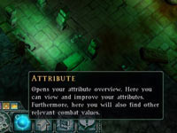 The Attribute toolbar from Dungeons