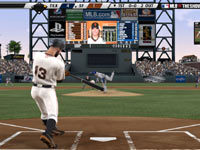 A batter catching a ball in the middle of the plate in MLB 11: The Show