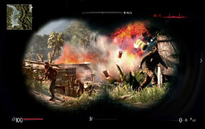 Scoping the aftermath of a shot in Sniper: Ghost Warrior for PS3