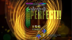 A perfect combo score on Difficult level in DanceDanceRevolution for Xbox 360
