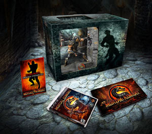 Box contents of the Mortal Kombat: Kollector's Edition for PS3