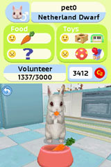 Watching your Bunny chow down on carrots in Petz Bunnyz Bunch