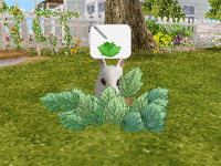 A bunny outside performing a preset goal in Petz Bunnyz Bunch