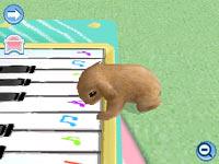 Teaching your bunny to play the piano in Petz Bunnyz Bunch