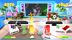 Synching two Kinect devices for multiplayer Dance Paradise gameplay
