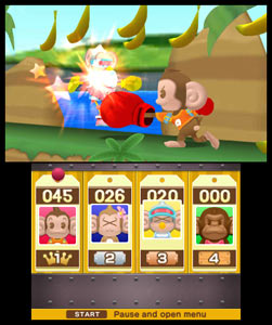 The Monkey Fight game mode from Super Monkey Ball 3D