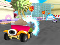 Multiplayer Monkey Race mode from Super Monkey Ball 3D