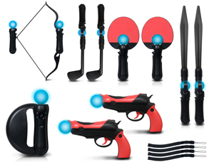 A full-featured motion gaming accessory kit for PlayStation Move