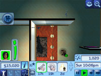 A fully customizable interior from The Sims 3 3DS