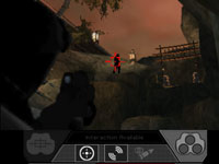 Targeting and enemy from afar in Tom Clancy's Splinter Cell 3D