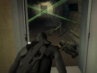 Preparing to navigate a laser protected room in Tom Clancy's Splinter Cell 3D