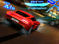 Multiplayer screen from Asphalt 3D