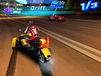 Motorcycles and cars are available for racing in Asphalt 3D