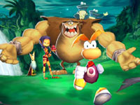 Rayman backed up by his friends in Rayman 3D