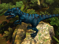 An allosaurus ready to pounce in Combat of Giant Dinosaurs 3D