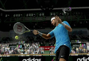 Swinging through a forehand in Virtua Tennis 4 for Wii