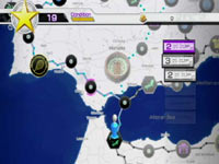 New world tour map from Virtua Tennis 4 for Wii
