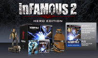 Contents of the inFAMOUS 2 Hero Edition