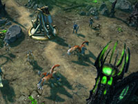 A Haven faction attack in Might and Magic Heroes VI