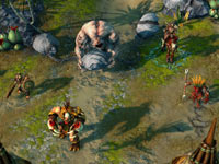 A Stronghold faction attack in Might and Magic Heroes VI
