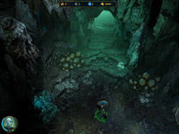 Exploring a grotto in Might and Magic Heroes VI