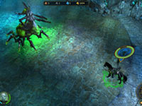 An underground boss battle in Might and Magic Heroes VI