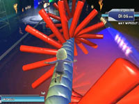 Obstacle cource in Wipeout: in the Zone